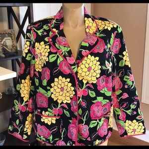 NY Collection Floral Blazer 2X